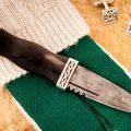 damascus sgian dubh with kilt sock