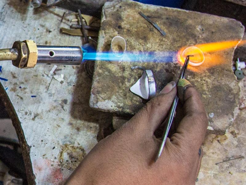 welding the sgian dubh silver work