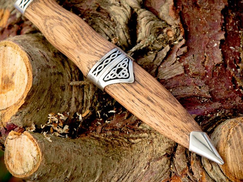 Hand made wood Sgian Dubh